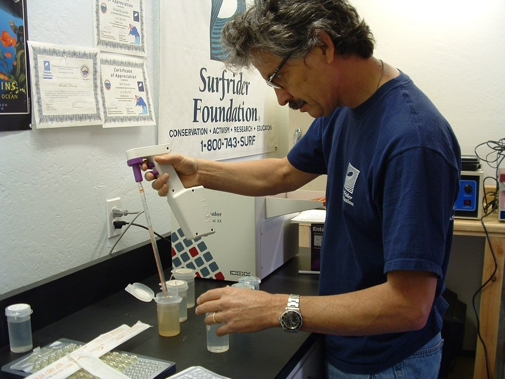 Surfrider Water Quality Lab - testing water samples from Pillar Point Harbor and key points along San Mateo coast