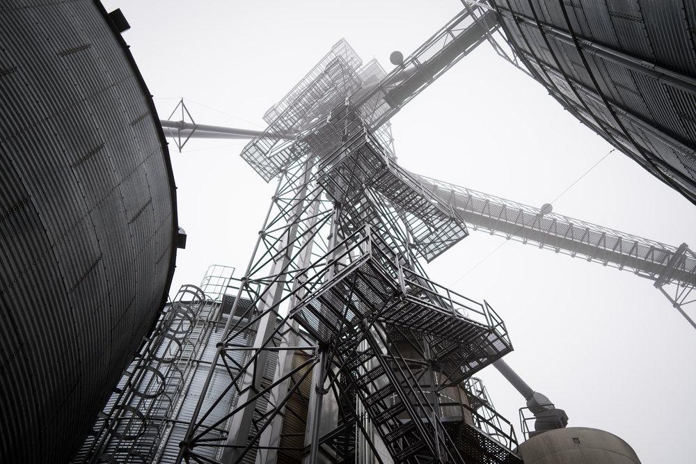 Towering Grain Storage Nebraska
