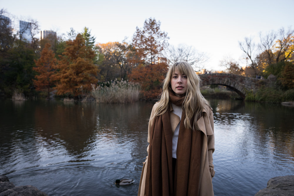 kayce in central park fashion photograph shot by robert ravenscroft an Austin and New York photographer