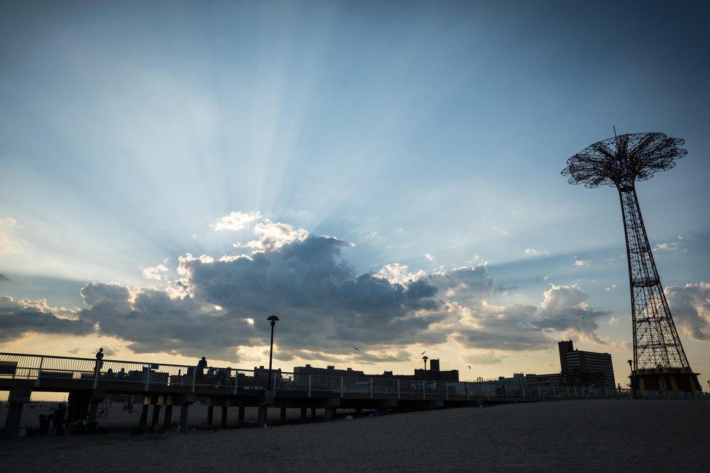 coney island sunset - robert ravenscroft nyc photographer