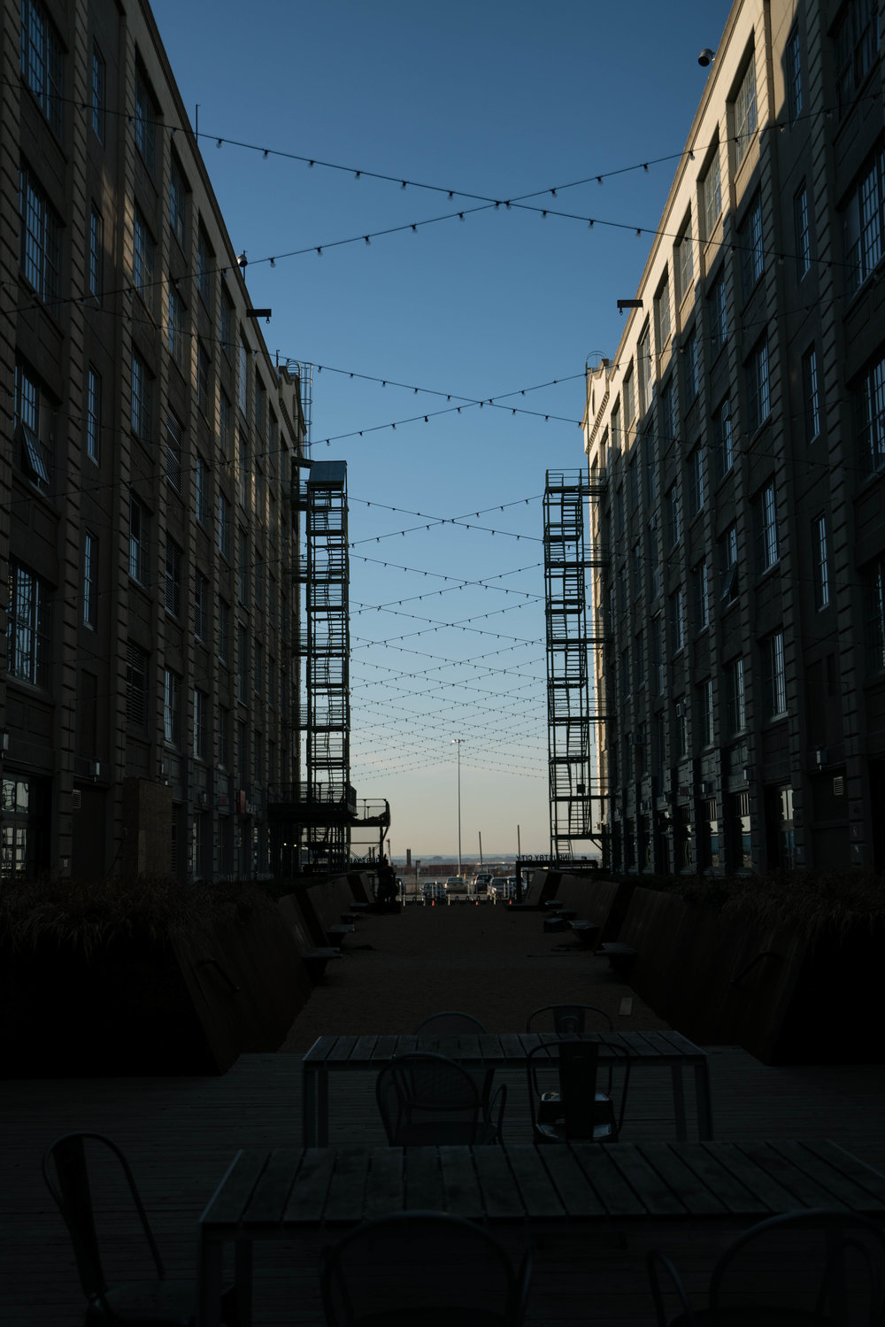 industry city apartments light strings
