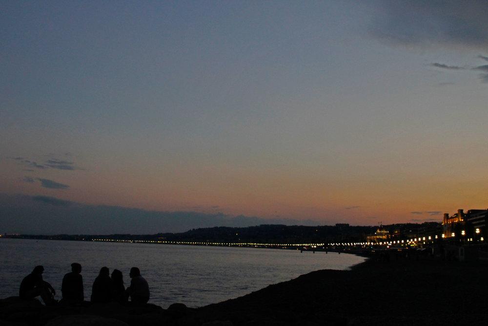sunset nice france boardwalk shot by robert ravenscroft travel photographer in new york