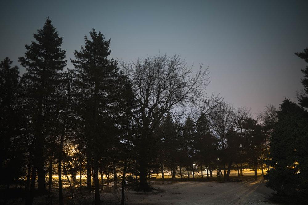 long exposure snowy night - robert ravenscroft nyc and austin photographer