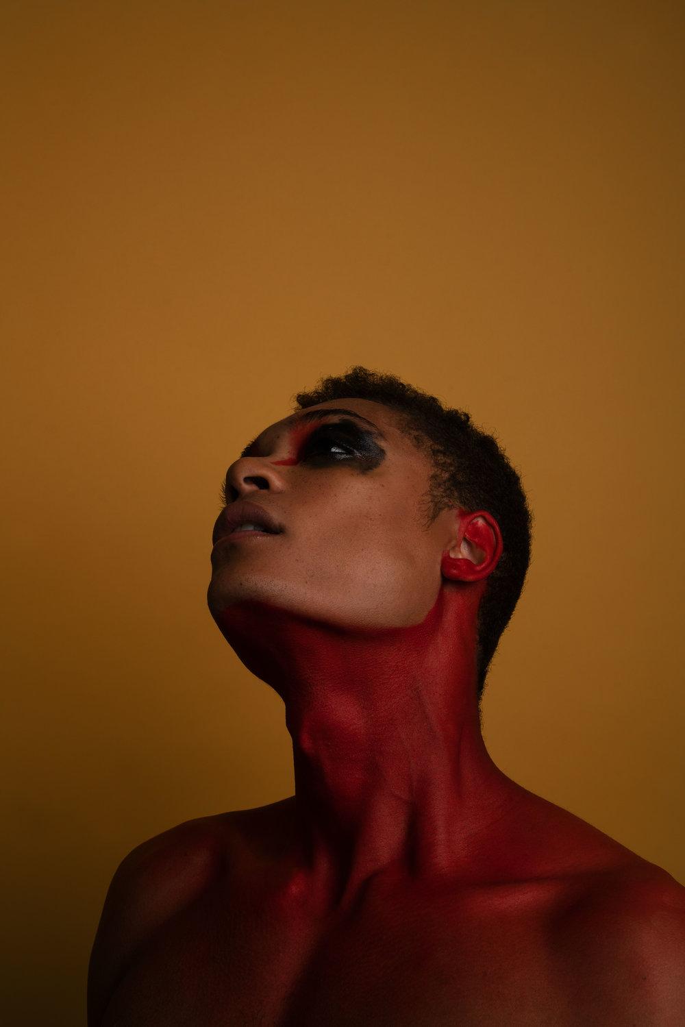 aaron abstract editorial orange backdrop shot by robert ravenscroft nyc