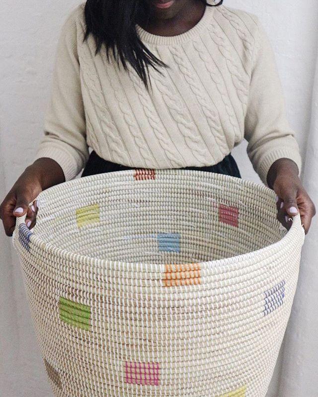 We love, Tabara ownner of @labasketry and her georgeous senegalese Basket  #africanartisans #senegalesebaskets #africancrafter #africa #senegal #handmade #everydayafrica #womenempowerment #punuhunter #GenerousStorage #interiordesign #interiors #interiors #design