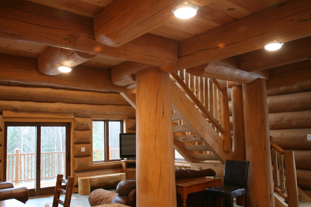 log cabin, loft joists