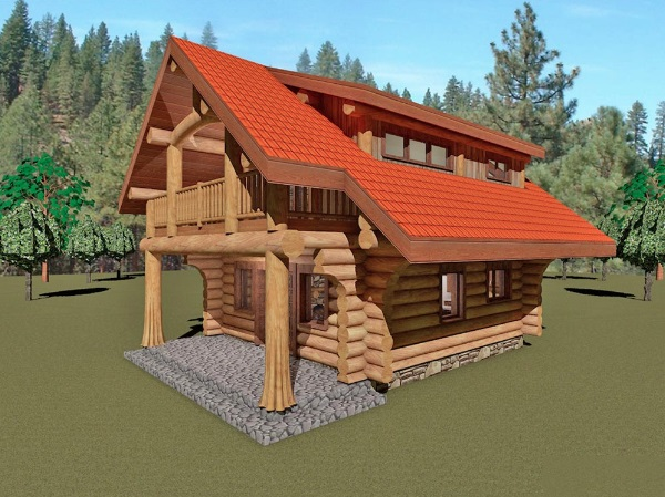 Log-Home-Made-In-Ontario-Canada-2-storey Design-Facing-Front-And-Right-Side-Of-House-The-Riverside-Cabin.jpg
