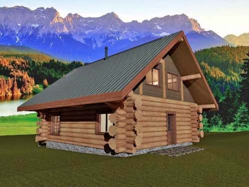 Log-Home-Made-In-Ontario-Canada-2-storey Design-Facing-Back-And-Side-Of-House-The-Treasure-Cabin.jpg