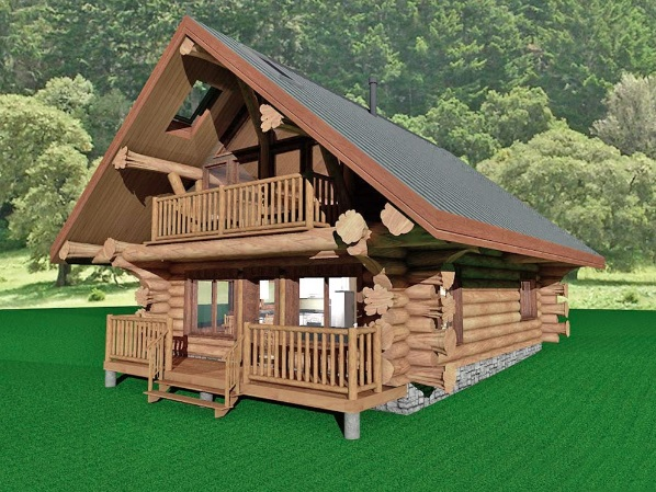 Log-Home-Made-In-Ontario-Canada-2-storey Design-Facing-Front-And-Side-Of-House-The-Treasure-Cabin.jpg
