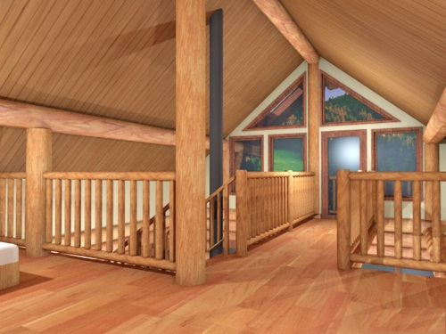Log-Home-Made-In-Ontario-Canada-2-storey Design-Interior-Facing-Upstairs-Open-Concept-Staircase-And-Floor-to-ceiling-Windows-Loft-The-Treasure-Cabin.jpg