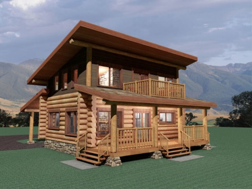Log-Home-Made-In-Ontario-Canada-2-storey Design-Facing-Front-And-Side-Of-House-The-Amarok-Cabin-Round-Log-Option.jpg