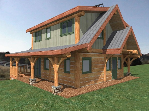 Log-Home-Made-In-Ontario-Canada-2-storey Design-Facing-Front-And-Side-Of-House-The-Fraser-Cabin-Square-Timber-Option.jpg