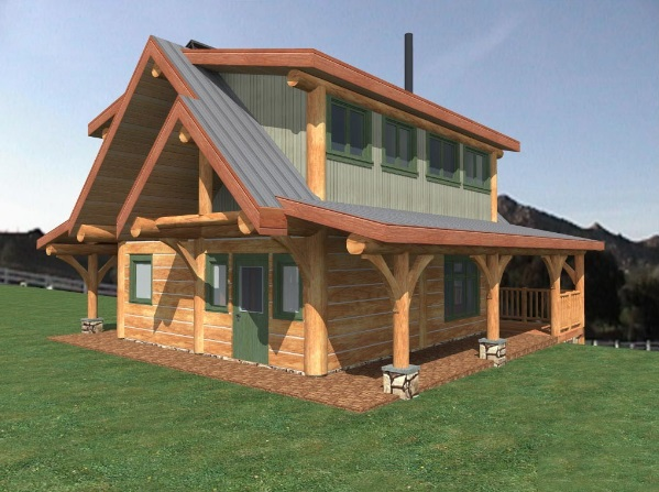 Log-Home-Made-In-Ontario-Canada-2-storey-Design-Facing-Front-And-Side-Of-House-The-Fraser-Cabin-Square-Timber-Option.jpg