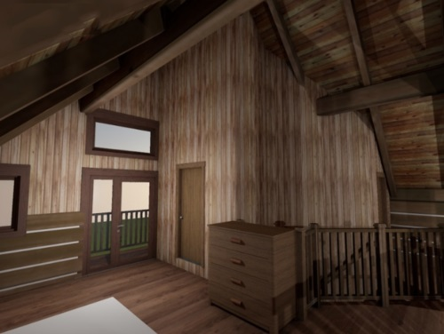 Log-Home-Built-In-Ontario-Canada-Interior-Facing-Foyer-With-Inverted-V-shaped-High-Ceiling-Staircase-The-Sturgeon-Cabin-Log-Cabin-Homes-Square-Timber-Option.jpg