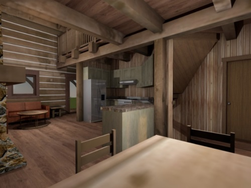 Log-Home-Built-In-Ontario-Canada-Interior-Facing-Kitchen-And-Living-Room-Area-From-Dining-Area-The-Sturgeon-Cabin-Log-Cabin-Homes-Square-Timber-Option.jpg
