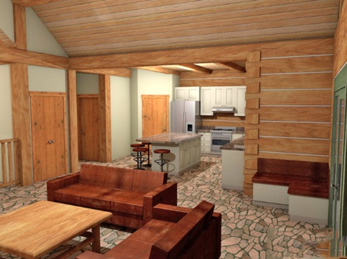 Log-Home-Built-In-Ontario-Canada-Interior-Facing-Kitchen-From-Living-Room-Sitting-Area-With-High-Ceilings-The-Barrier-Cabin-Log-Homes-Square-Timber-Option.jpg