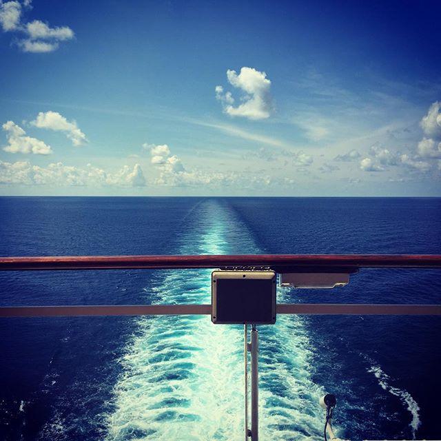 At sea...