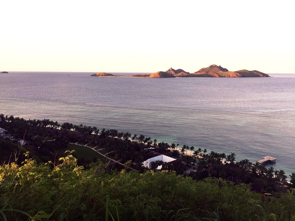 View from the top of Island's mountain at sunrise; worth the early morning trek