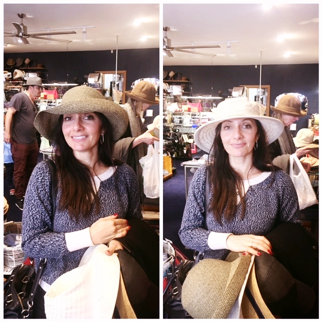Me trying on hats, as you do!