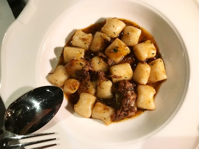 Oxtail ragu gnocchi, fluffy like pillows