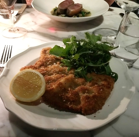 Veal parmigiana - large, tender and perfect.