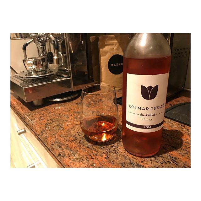 Stressed on a Monday? #drinkwine 🍷🍷🍷🍷#colmarestate #orange
