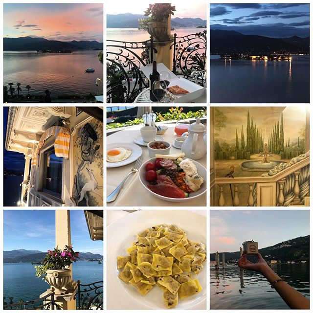 The sweet life #italy #sunset #vino #pasta #view #art #moments #love #cheese #theluxuryoftime #nature #travel #aperitivo #lakemaggiore