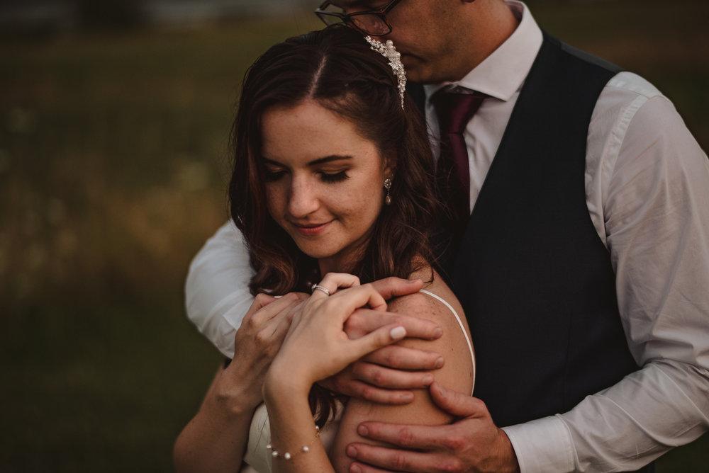 Fraser river lodge wedding portrait