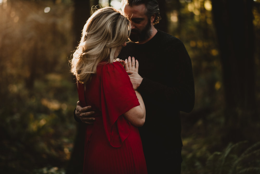 pacific spirit regional park engagement session