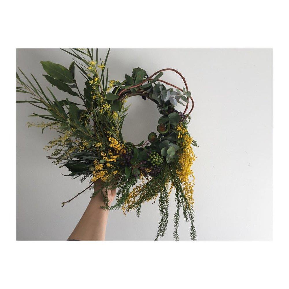 #mimosa #wreath