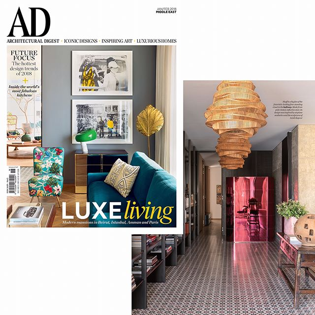Great start for 2018! Our project is featured on the cover of @admiddleeast! Super collaboration with @claudiaskaff! Thank you @admiddleeast.  In pink, our custom designed cloak closet in candy paint reflecting the light in the depth of the entrance. #collaboration #interiordesign #beirut # admiddleeast #admagazine #portfolio #condenast #cover #2018 #photo #stephanjulliard #iangphillips #interiordesign #mariagrouparchitects #bespoke #design #urbancontext