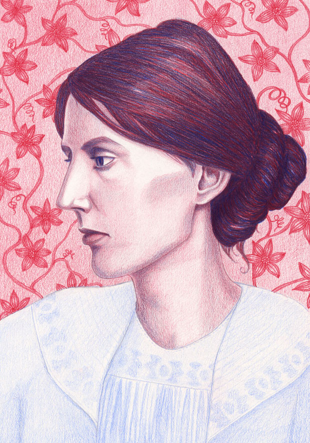 my final illustration of Virginia Woolf