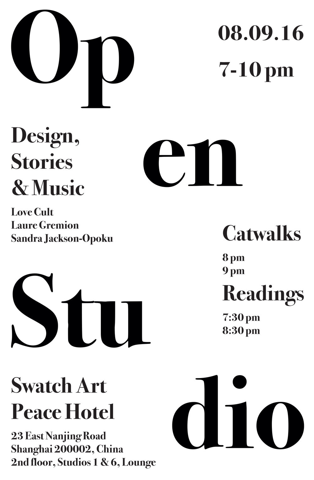 Open Studio Catwalk at Swatch Art Peace Hotel,  Shanghai, China, 08.09.2016