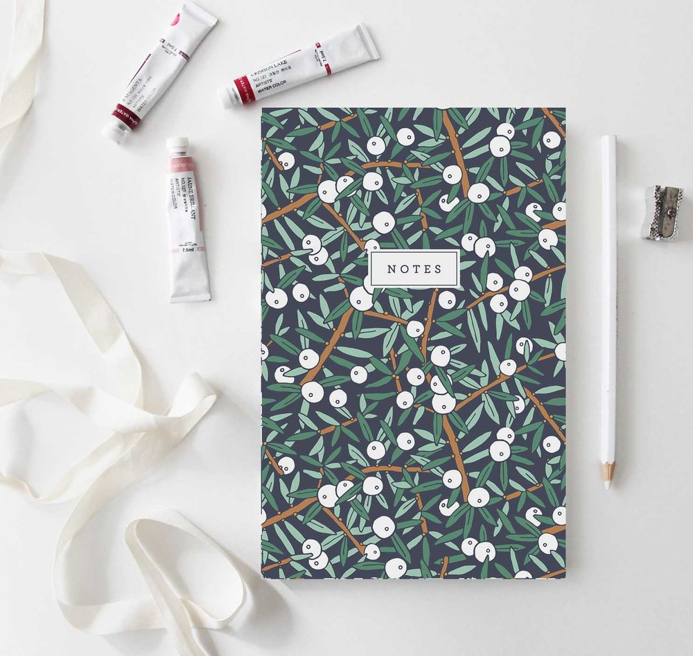 Juniper Berry Notebook by Jessie Tyree Jenness for Root & Branch Paper Co.