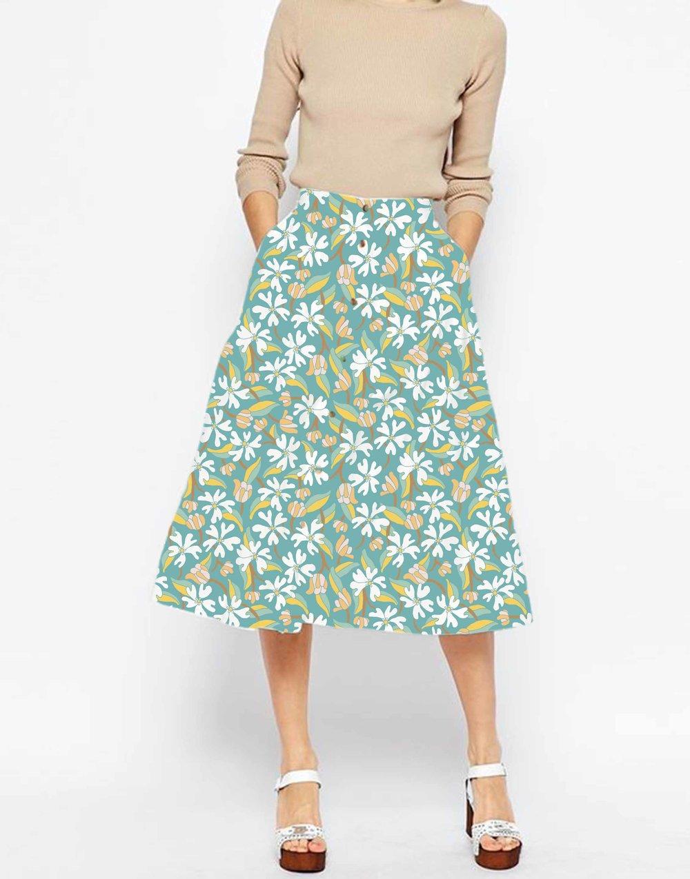 Skirt Mockup by Jessie Tyree Jenness