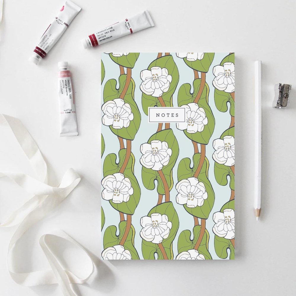 Lotus Leaf Notebook by Root & Branch Paper Co.