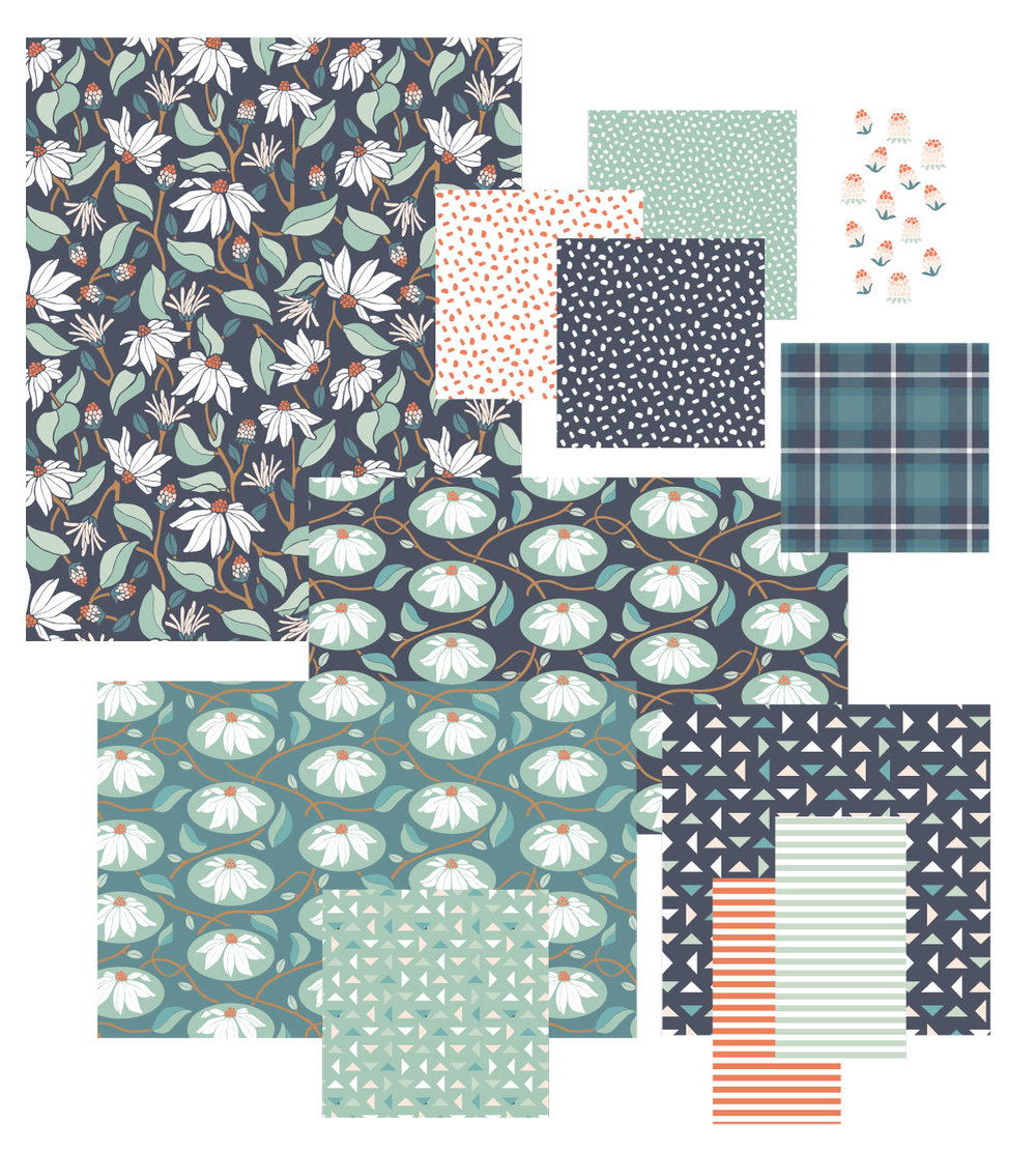 Berries & Blooms Print Collection by Jessie Tyree Jenness for Root & Branch Paper Co.