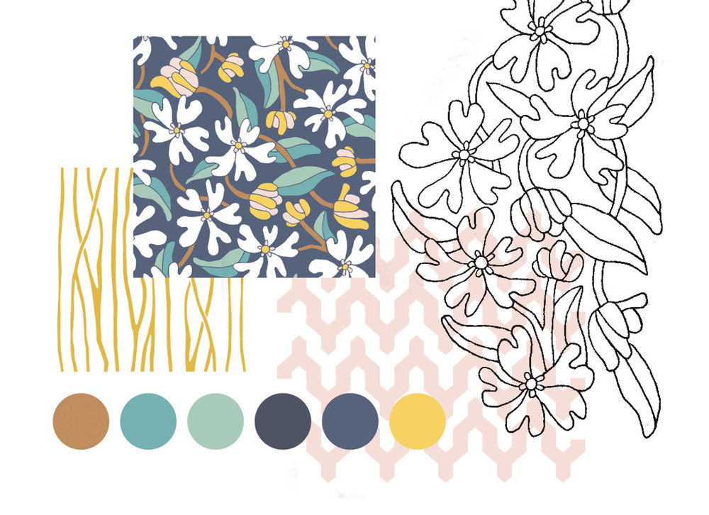 Saffron Morning Pattern Collection by Jessie Tyree Jenness