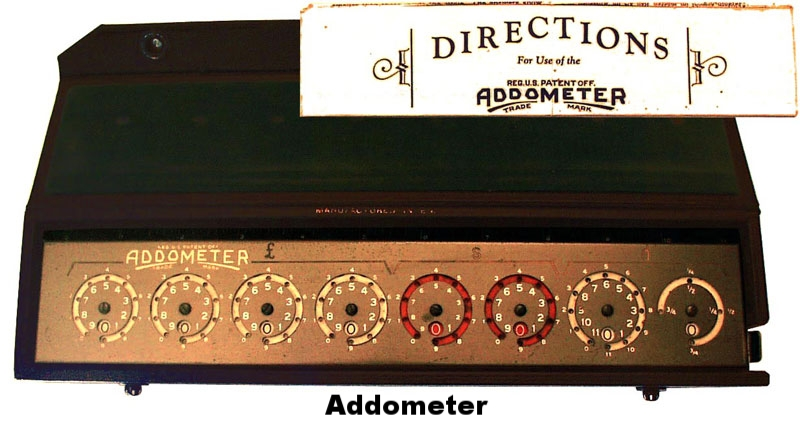 Reliable Typewriter Addometer