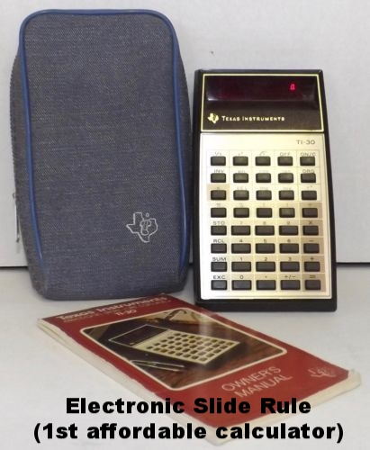 Texas Instruments TI-30 Electronic Slide Rule