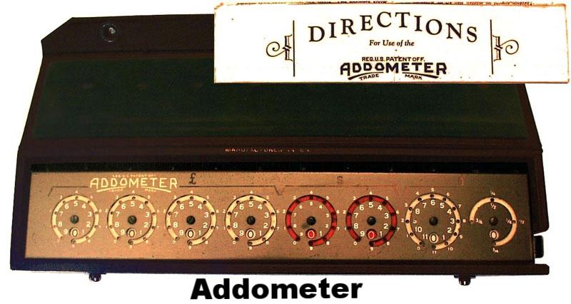 Reliable Typewriter Addometer