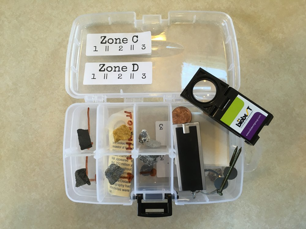 Mineral & Rock Sample Kit Tools