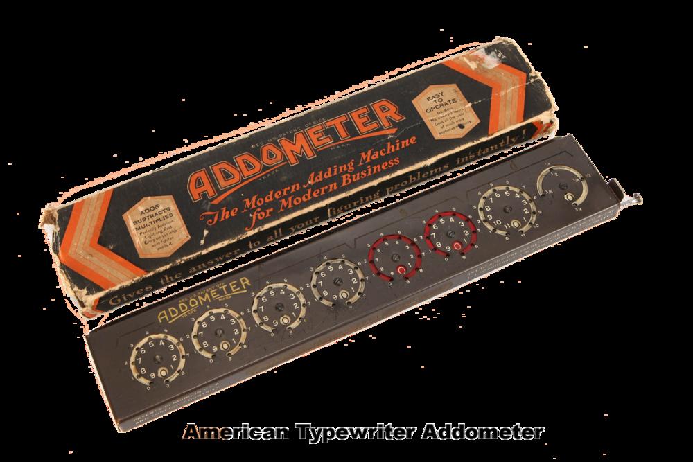 American Typewriter Addometer - STEMpunk