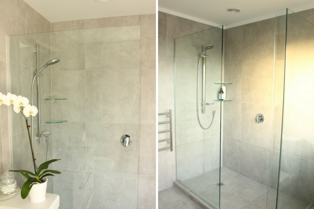 TWIN Showers - ensuite shower and guest bathroom shower