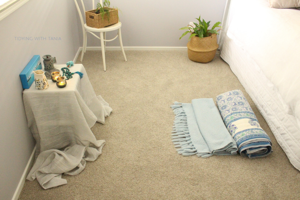 meditation space in the room