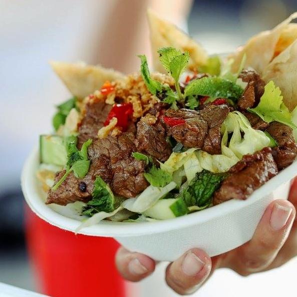 Beef noodle salade