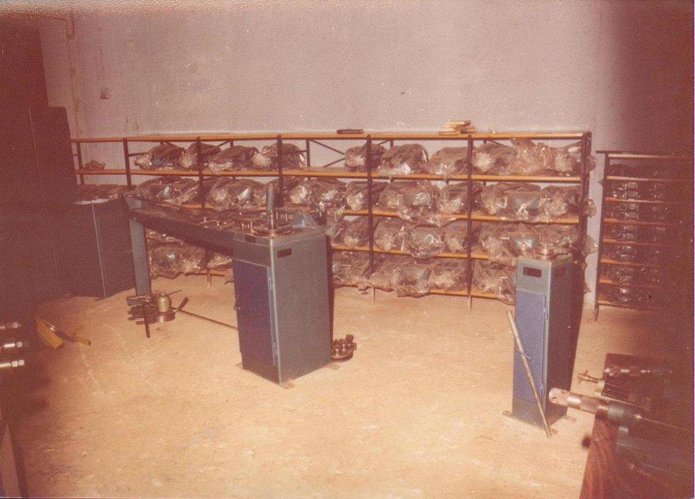 Χώρος αποθήκευσης έτοιμων προϊόντων στο μηχανουργείο του Πειραιά.