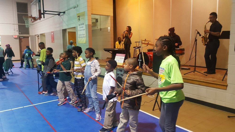 Sugaw Creek Rec Center, West Charlotte | Hip Hop Orchestrated was invited to come out and help residents near the Sugaw Creek Rec Center celebrate the Holidays at their Annual Thanksgiving Celebration.