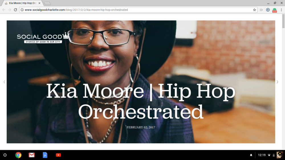 Kia Moore | Hip Hop Orchestrated - By Tiffany Cooper & Luba Katarkova | Social Good Charlotte | Feb. 2, 2017