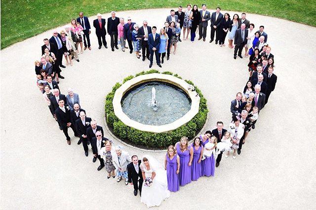 A heart of guests @eastingtonpark #summerwedding #guests #love #happyinlove #heart #weddingphotographer #nikon📷